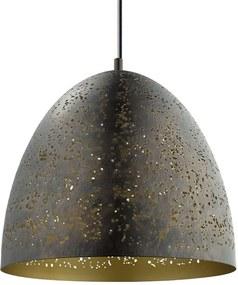 EGLO hanglamp Safi - bruin/goud - Ø40 cm - Leen Bakker