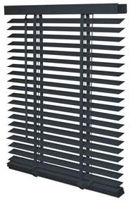 Intensions Jaloezie 130x175x6cm lamellen 5cm Hout met Aluminium raamwerk Donkergrijs 1187374