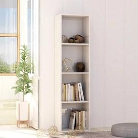 Boekenkast 40x30x151,5 cm spaanplaat hoogglans wit