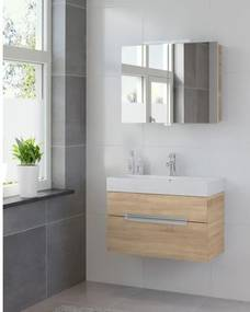 Bruynzeel Mino badmeubelset 80x56x38cm met spiegelkast bardolino 223630k