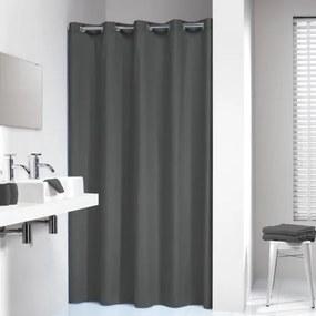 Douchegordijn Textiel Sealskin Coloris Polyester/Katoen Grijs 180x200cm