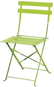 Stalen opklapbare stoel groen Set van 2