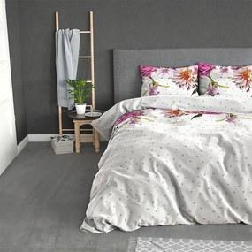 Sleeptime Elegance Love Garden - Flanel 1-persoons (140 x 200/220 cm + 1 kussensloop) Dekbedovertrek