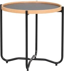 Nordiq Bristol sidetable - Ronde bijzettafel - Ø50 x H46 cm- Bijzettafeltjes - Salontafel - Afneembaar tafelblad - Dienblad - Scandinavisch design
