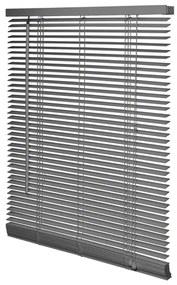 Intensions Jaloezie 100x175x5cm lamellen 2.5cm Hout met Aluminium raamwerk Donkergrijs 1187221