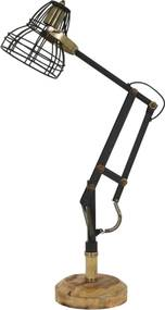 Bureaulamp JACKSON - Mat Zwart-Antiek-brons