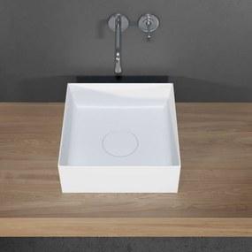 Waskom Riho Thin Opbouw Vierkant 38x38 cm Mat Wit