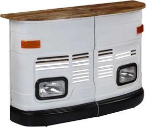 Bartafel vrachtwagen massief mangohout wit