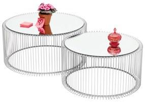 Kare Design Wire Zilveren Salontafelset