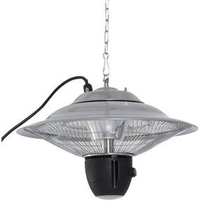 Sunny Stralingsverwarmer 1500W met LED incl. Afstandsbediening aluminium zilver