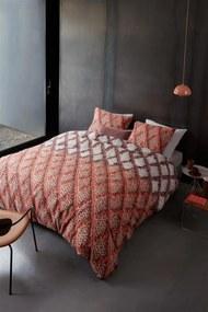 Beddinghouse   Dekbedovertrekset Ivar eenpersoons: breedte 140 cm x lengte 200/220 cm + rood dekbedovertrekken flanel bed   NADUVI outlet