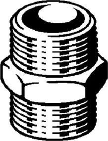 Viega dubbele nippel met zeskant 1 1/4 brons 269135