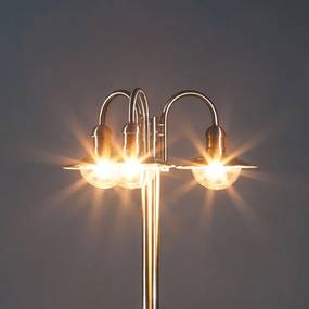 Meerarmige lantaarnpaal Damion van RVS, 3-lichts - lampen-24