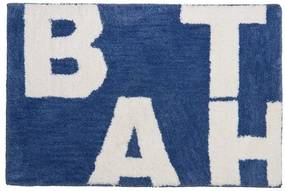 Sealskin littera badmat 90x60cm polyester Middenblauw 294013621