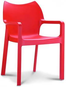 Designstoel Monaco - Rood