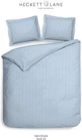 Heckett & Lane dekbedovertrek Uni Stripe - blauw - 240x220 cm - Leen Bakker