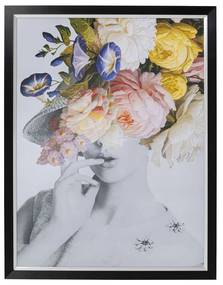 Kare Design Flower Lady Pastel Portret Met Bloemen