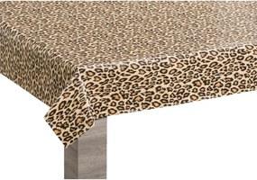 Tafelzeil Leopard - beige - 140 cm - Leen Bakker