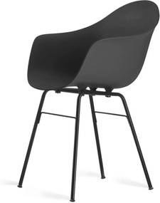 Toou TA stoel – Met armleuning - ER Zwarte poten- Eetkamerstoel - Kuipstoel - Eames - Arm - Kunststof - Design - Metaal