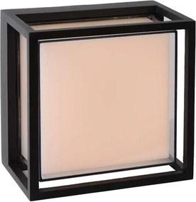 Lucide LED wandlamp buiten SINGA IP54 - zwart - 17x10x17 cm - Leen Bakker