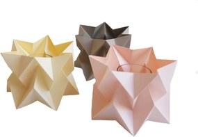 Orikomi Orikomi Tealights Theelichtjes   Set van 3   Pastel- Kaarshouder - Origami - Papier - Vrolijk - Pastel - Kleurrijk - Set van 3