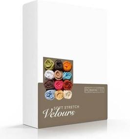 Romanette Luxe Hoeslaken Velours - Wit 180 x 200/220