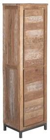 Tower Living Smalle Wandkast Teak Venetie - 50x40x180cm.