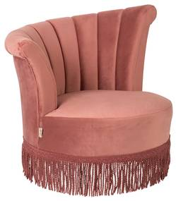 Dutchbone Flair Fauteuil Fluweel Roze