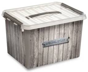 Q-line Box Opbergbox - Decor Hout - 22L