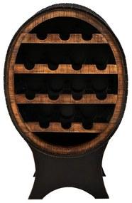 Zwarte Wijnkast Ovaal - 60x40x95cm.