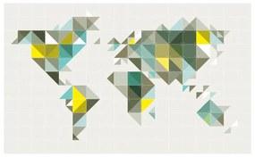 IXXI The World tangram wanddecoratie