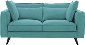 Goossens Bank Suite groen, stof, 2-zits, elegant chic