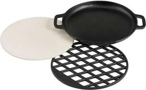 Patton combinatie Multi Grill Set BBQ Nova - zwart - 18xØ36 cm - Leen Bakker