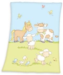 Boerderij deken - Wiegje (75x100 cm) - 100% polyester