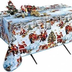 Kerst Tafelzeil Kerstman met Slee