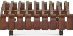 Fameg Flip - Houten klapstoelenrek- Rek voor Folding Chair - Retro - Design - Bruin