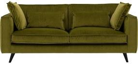 Goossens Bank Suite Velours groen, stof, 2,5-zits, elegant chic