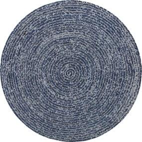 Vloerkleed donkerblauw ø140 cm BULUCA