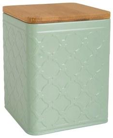 Voorraadblik Relief - groen - 11.5x11.5x14.5 cm