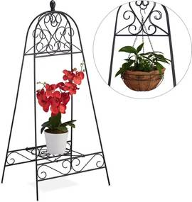 Plantenrek metaal - bloemenrek - balkon - rek - inklapbar - tuinrek - ijzer