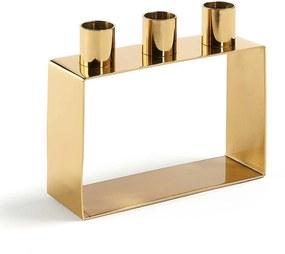 LaForma Poeme - Metalen kaarsenhouder - Goud- Gold messing Kaarsen - Drie - Design - Trend - Metaal