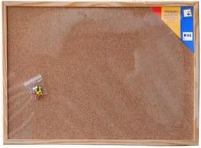 Soho Prikbord 40 X 60 Kurk/Hout Bruin/Blank