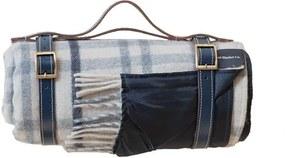 Picknickkleed wol: lichtblauw, grijs, ruiten Zonder band