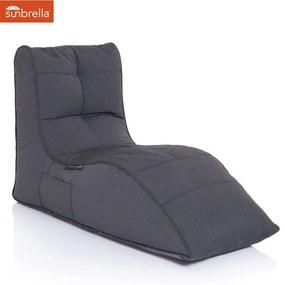 Ambient Lounge Outdoor Sunbrella Avatar Sofa - Black Rock