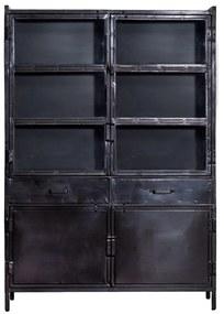Eleonora Industrieel Industriële Buffetkast - 125x42x180cm.