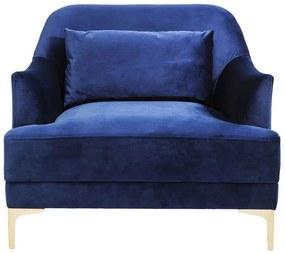 Kare Design Proud Donkerblauwe Suede Fauteuil