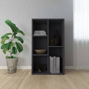 Boekenkast/dressoir 45x25x80 cm spaanplaat grijs