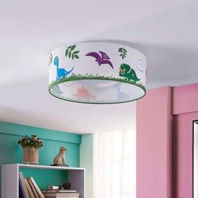 Dinoland kinderkamer plafondlamp uit textiel, LED