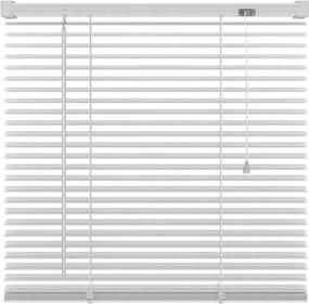 Basic horizontale jaloezie PVC - wit - 120x180 cm - Leen Bakker