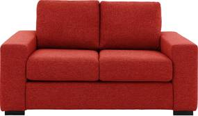 Goossens Bank Lucca rood, stof, 2-zits, stijlvol landelijk